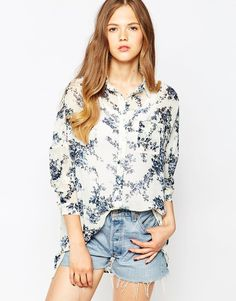 Pepe+Jeans+Sophie+Floral+Shirt