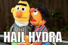 Hail HYDRA meme sesame street