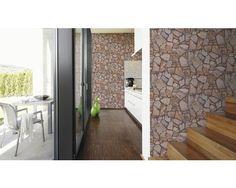 Vliestapete 9273-16 Wood'n Stone Stein braun