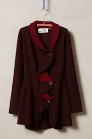 Image result for Rosie Neira Ruffled Wool Sweater Coat