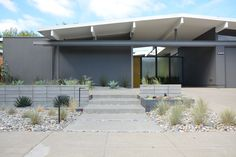 hmmm... // Dear House I Love You: Eichler Landscpaing front yard landscaping MCM low-water
