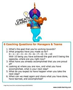 6 Powerful Coaching Questions for Teams and Managerial-Leaders. Solution Focused Therapy, Professional References, Coaching Questions, Health And Wellness Coach, Positive Motivation, Career Coach, Leadership Development, Life Coaching, Growth Mindset