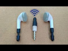 How to Make Wireless Earphone - with LED Sensor Electronics Mini Projects, Diy Electronics, Smartphone Hacks, Old Phone, Spy Camera, Wireless Earbuds, Led, Diy Tools, Board
