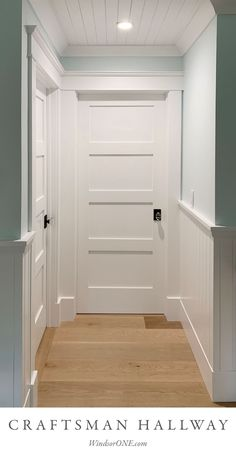 Another pic from this stunning home featuring Classical Craftsman style trim. More info and pics at the link - #interiordoors