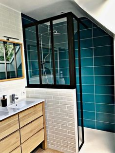 remodeling bathroom ideas diy is definitely important for your home. Whether you pick the bathroom remodel wainscotting or bathroom renovations, you will make the best bathroom remodel shiplap Modern Bathroom Design, Bathroom Interior, Ideas Baños, Tile Ideas, Glass Partition, Bathroom Colors, Bathroom Ideas, Bathroom Layout, Bathroom Cabinets
