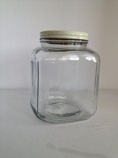 Vintage Glass Hoosier Jar Storage Jar from the 1940's on Etsy, $25.00