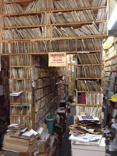 Record store in Philadelphia -- Ridiculous -- how could anyone find anything! But very romantic in retrospect.