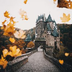 Autumn in Eltz Castle, Germany - photo by Hannes Becker (link to his Instagram profile)