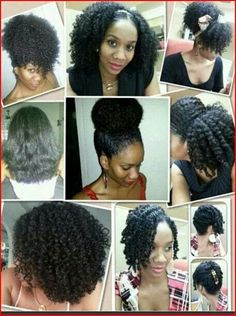 Gotta love how versatile natural hair is! I know SO many white girls that are jealous of the versatility of black hair. Sistas need to recognize that we have desirable hair too