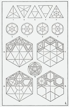 """Sacred Geometry <3 [from """"A Handbook of Ornament"""" 1920 free PDF from archive.org]"""