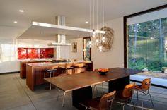 Diseño de cocina comedor de casa de campo