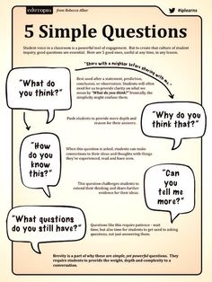 Inquiry student engagement questions