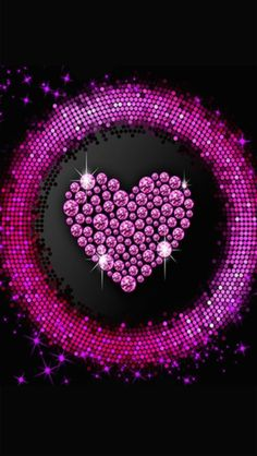 Black and pink heart