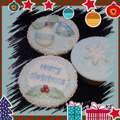 Christmas cupcakes, festive cupcakes