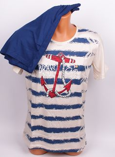 Мъжка пижама в шампанско и синьо. Горното е в шампански и синьо райе af79c77825e40