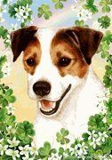 Jack Russell St. Patrick's Day Banner - Decorating a Garden for St. Patrick's Day