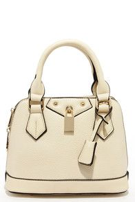 Slight Attendant Cream Mini Handbag at Lulus.com!