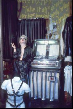 Jordan at SEX (Vivienne Westwood & Malcom McLaren's shop) on the Kings Road, London [circa1975]