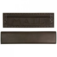 """Heavy Duty Bronze """"Mail"""" Letter Slot - Mailboxes and Slots - Outdoor -larger size = 13"""" wide, 11+"""" opening, interior flap too"""