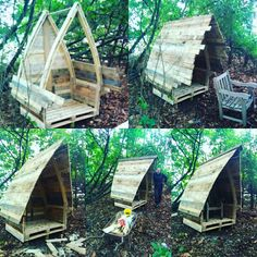 Pallet wood gothic arch pagan / gotic / witch house build and finished