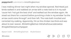 #imtellingbatman