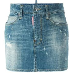 DSQUARED2 present this microstudded denim skirt. Crafted in Italy from stretch cotton, this garment features a button and zip fly, a waistband with belt loops…