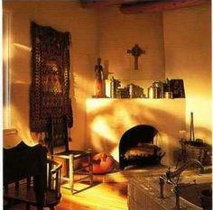 Fireplace photography santa fe style kiva adobe new for Santa fe style bathroom ideas