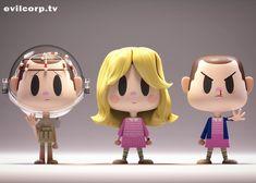 Vinyl toy render of Eleven from Stranger Things 3d Character, Character Concept, Concept Art, Character Design, Cute Characters, Cartoon Characters, 3d Cartoon, Found Object Art, Mascot Design