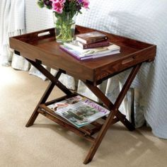 awesome vintage suitcase and luggage rack made into a nightstand ...