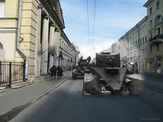 Cool Then and Now Superimposed WWII Pictures - Gallery