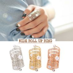 Wide Roll-Up Ring  Inspired by Lee Da Hae in Korean Drama 'Hotel King'. #simplybellary http://www.simplybellary.com/shop/ring/wide-roll-ring/