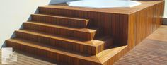 Stairs, Decor, Timber Deck, Timber, Jacuzzi, Deck Design, Home Decor