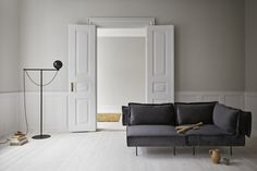 Modular Sofa in luxury velvet and Globe Floor Lamp is Danish design by Emil Thorup. Add Nordic essence in your living room with versatile lighting. Nordic Living Room, Scandinavian Living, Living Spaces, Scandinavian Design, Danish Furniture, Furniture Design, Grey Glass, Modular Sofa, Living Room Inspiration