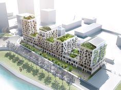 Residential Complex, Residential Architecture, Architecture Design, Modern Villa Design, Urban Design, Urban Village, Arch House, Social Housing, High Rise Building