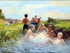 Swimming - Nikolay Bogdanov-Belsky