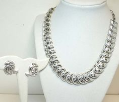 Vintage Signed Coro Necklace & Earring Set in by thejewelseeker