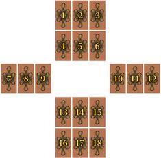 Velký kříž - Cikánské karty Tarot, Calendar, Holiday Decor, Life Planner, Tarot Cards