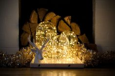 DIY lighted cloches are easy to make and affordable.