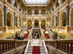 A mansion or museum? The interior of Prague's vast National Museum—built in the 1880s at the top of Wenceslas Square—is an impressive example of monumental design. See the photo » Photograph by Miquel Gonzalez, laif/Redux