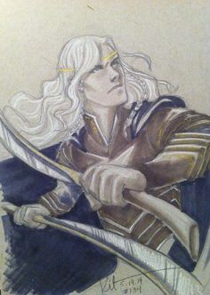 Glorfindel Book Characters, Fantasy Characters, Tolkien, Glorfindel, Shadow Of Mordor, Character Sketches, Elvish, The Elf, Middle Earth