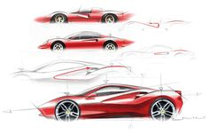 Ferrari 488 GTB Design Sketch