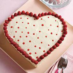 White Chocolate Sweetheart Cake #recipe #valentinesday