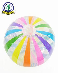 Inflatable PVC 0.12-0.13mm Rainbow beach ball 40cm EN71-5