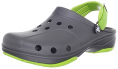 Crocs Men's 10376 Ace Boating Clog,Graphite/Volt Green,7 M US