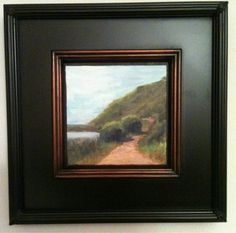 Art: I love floater frames for the impact they give to smaller paintings. This is a 6 x 6 painting I did of Tennessee Valley, in Mill Valley, California