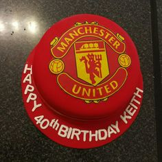 Manchester United Cake, Man United, Fondant, Biscuits, Birthday Cake, Parties, Baking, Desserts, Recipes