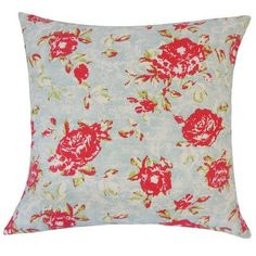 "The Pillow Collection Nanne Floral Cotton Throw Pillow Size: 20"" H x 20"" W x 5"" D"