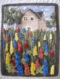 hooked by Pam Upton from a pattern by Wanda Kerr. Rug Hooking Designs, Rug Hooking Patterns, Proddy Rugs, Hook Punch, Punch Needle Patterns, Latch Hook Rugs, Rug Inspiration, Hand Hooked Rugs, Braided Rugs