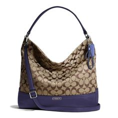 Coach Khaki   Amethyst Park Signature Hobo Shoulder Bag - Style 23279 29a587dafd2e6
