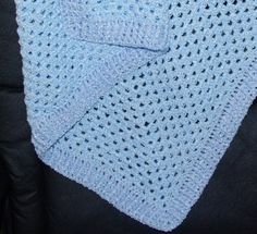 Ribbed Edge Granny Baby Afghan Crochet Pattern